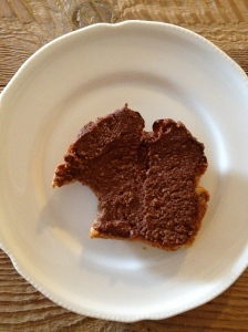 Gluten-free toast with homemade nutella!
